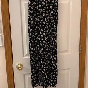 Forever21 Floral maxi skirt with slits